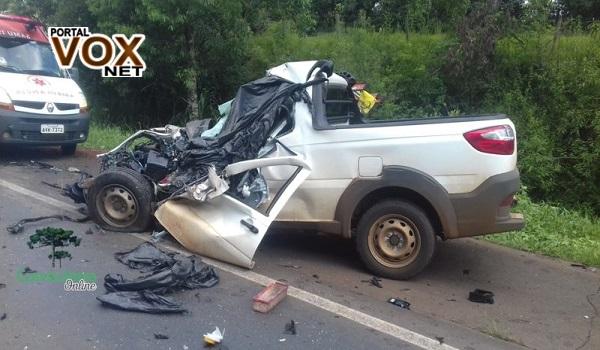 Fatal > Colisão frontal deixa um morto na PRC-280