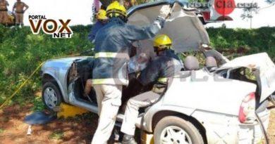 Grave > Três pessoas ficam feridas em mais um acidente na PR 323