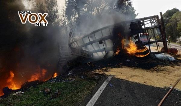 Tragédia > Vítimas que morreram carbonizadas em acidente na BR 277 eram de Cascavel