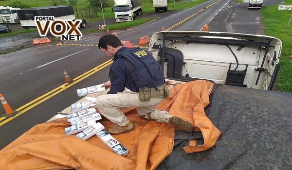 Apreensão – PRF de Guaíra realiza duas grandes apreensões de cigarros contrabandeados do Paraguai e recupera veículos roubados