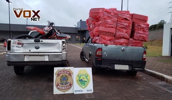 Guaíra – PF e BPFRON realizam nova apreensão de carregamento de contrabando