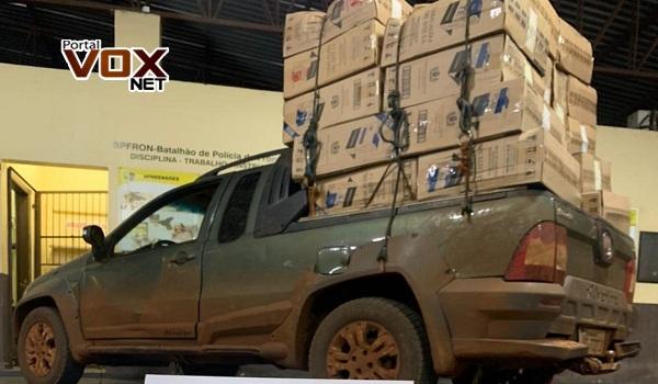 Guaíra – BPFron apreende 2.500 pacotes de cigarro contrabandeados