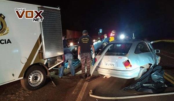 Tragédia – Quatro pessoas morrem em grave acidente na PR-090