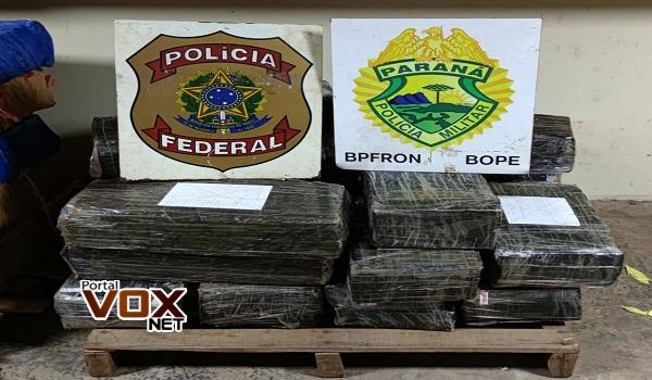 Guaíra – POLÍCIA FEDERAL e BPFRON realizam nova apreensão de 325 quilos de Maconha