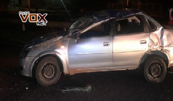 Fatal – Motorista morre após capotar o carro na PR-323