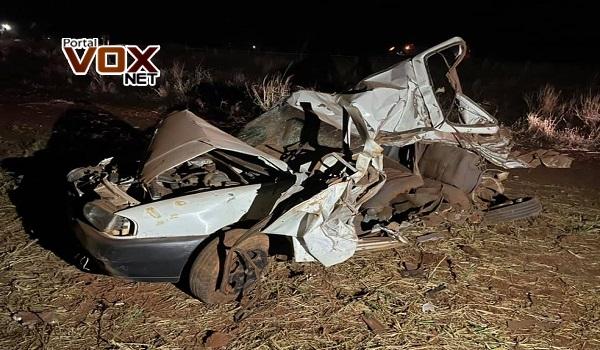 Tragédia – Seis pessoas, entre elas 2 crianças, morrem em acidente com dois carros na BR-364