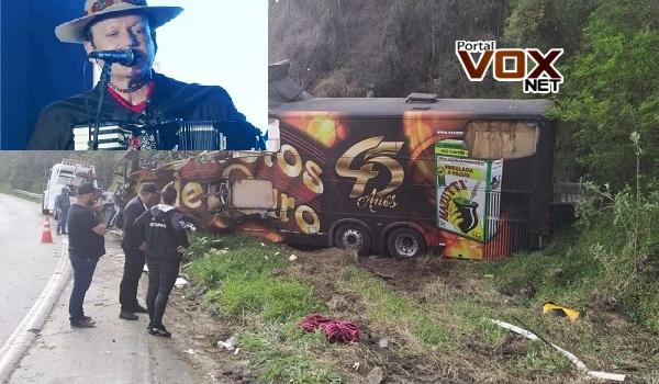 Triste – Vocalista da banda Garotos de Ouro morre em acidente com ônibus