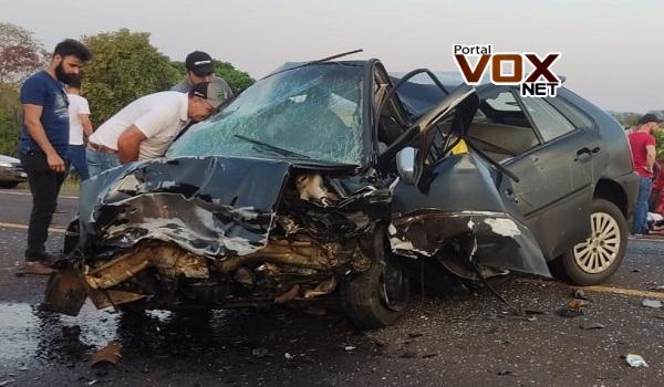 PR-281 – Recém-nascida, criança e outras duas pessoas morrem em acidente